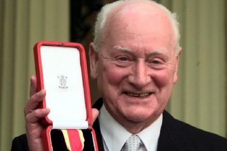 Sir Tom Finney with his knighthood