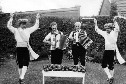 Leyland Morris Men get their new clogs in the 1970s