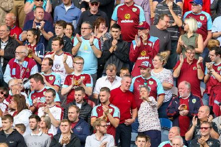Burnley fans left Turf Moor in a good mood