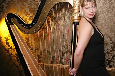 Harpist Maxine Molin-Rose who will team up with multi-instrumentalist Gaynor Sutcliffe and cellist Bob Buller for the second in a series of concerts celebrating the fifth anniversary of the Ribble Valley Music Festival. (s)