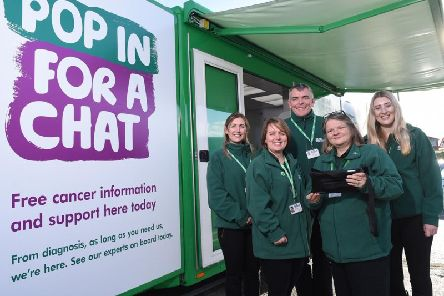 The Macmillan Cancer Supports Mobile Information and Support Service.