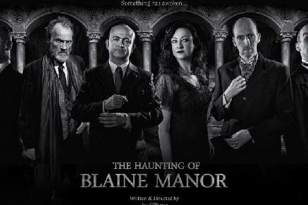 The cast of The Haunting of Blaine Manor, which is being staged at Burnley Mechanics.