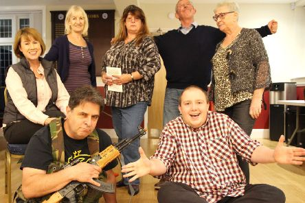 Market Weighton Community Players get ready to perform the shows at Shiptonthorpe Village Hall.