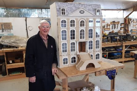 Western Wolds Men in Sheds member Brian Ford, 90, carried out the work on the dolls' house.
