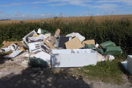 Rubbish including fridges, furniture and building materials were found dumped on the roadside at five locations - in Newbald, South Cave, Hotham, Welton and Brantingham - over the space of eight months in 2017 and 2018.