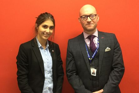 Tilly Rennison is pictured with Mr Gareth Hughes, head of history at Pocklington School.