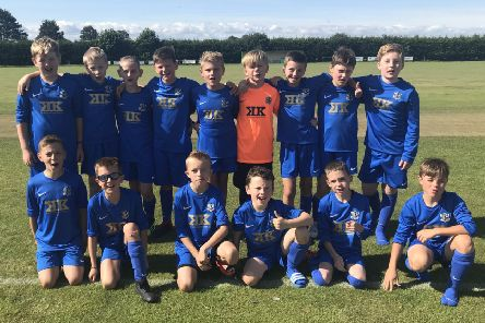 The newly formed Mavericks United U11s team has been supplied with new equipment thanks to the support of a number of sponsors.