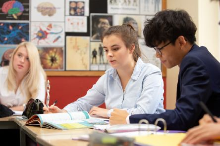 Pocklington School was ranked the highest-performing independent sixth form in the area for 'value added' progress.