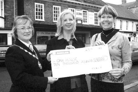 A cheque for Oak House back in 1999.