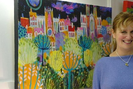 Artist Claire West's work will be on show later this month