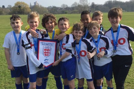 Warter CE Primary School's Year 6 boys are this year's ESFA County Champions.