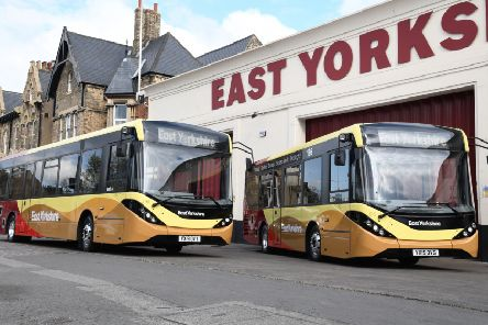 The two new East Yorkshire single deck buses.