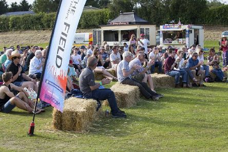 Festival goers enjoy the entertainment at Folk in the Field.  Photo: James Mannifield/East Riding Event Photography