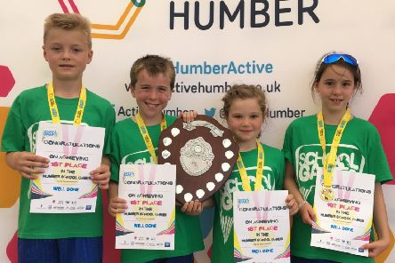 Warter Primary School's Year 3/4 tennis team are the new Humber Champions.