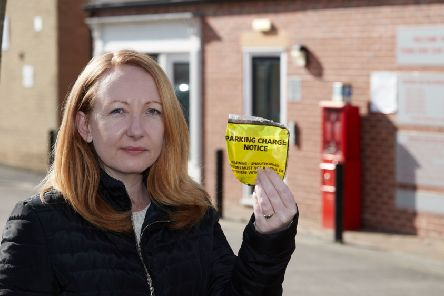 Gemma Bragger parked in Town End car park, in Ossett, where the only machine was broken, and was shocked to discover she had been given a parking ticket for failing to pay.