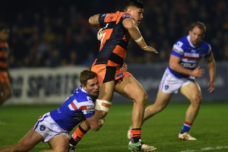 Mitch Clark in action against Wakefield Trinity last Thursday. PIC: Jonathan Gawthorpe