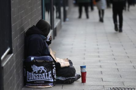Police in Wakefield conducted searches for rough sleepers this morning.