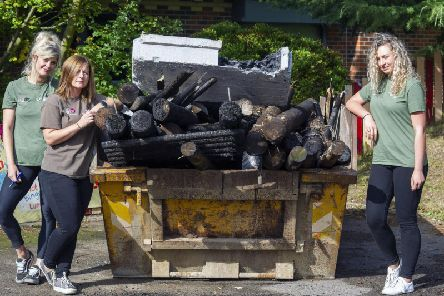 Workers at a playground have praised Knottingleys community spirit after arsonists caused more than 10,000 worth of damage over the weekend.