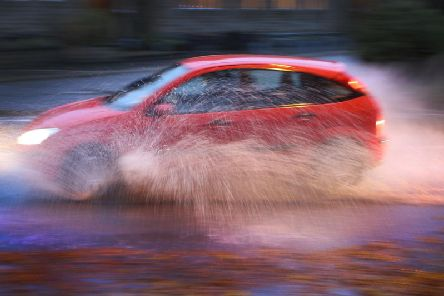 Heavy rainfall has made driving difficult for drivers across the region.