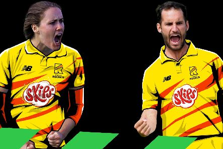 Lewis Gregory and Nat Sciver, who will captain the two Trent Rockets teams in The Hundred, cricket's new competition.
