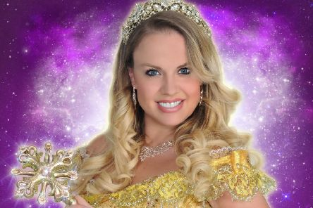 Joanne Clifton as the Fairy in Cinderella at Sheffield Lyceum.