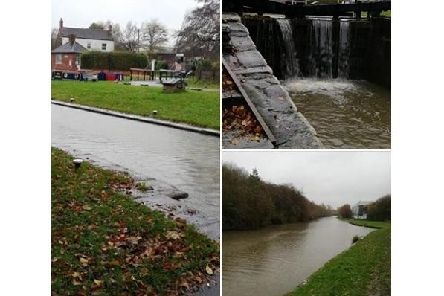 Water levels rising in the Heanor/Langley Mill area. Photo from Heanor and Langley Mill SNT Facebook page.