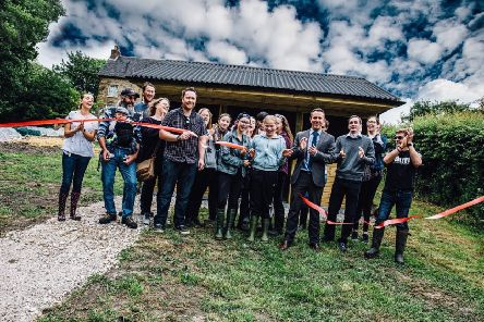 A new environmental learning hub has been created at the Valley CIDS charity's Turner Farm project in Swanwick, with suport from construction contractor GF Tomlinson and its industry partners.