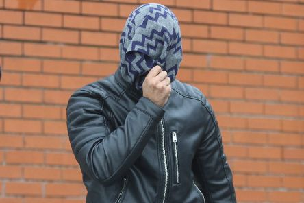 Ali El-Aridi, 23, of Stubbin Lane, Sheffield, leaves Chesterfield magistrates' court on bail after he was found guilty of two counts of possessing extreme pornography including a horse and a dead cat.