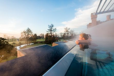 The incredible rooftop pool at Ragdale Hall