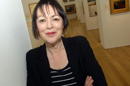 Jane Sellars MBE, curator of a new Harrogate exhibition which includes a 12m painting.