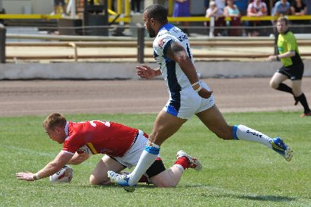 Will Hope, pictured in action for Sheffield Eagles in 2014. Picture: Dean Woolley.