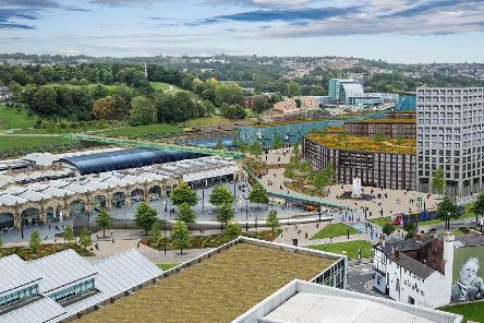 Sheffield Council issued this picture of what Sheffield railway station could look like if HS2 comes to the city centre.