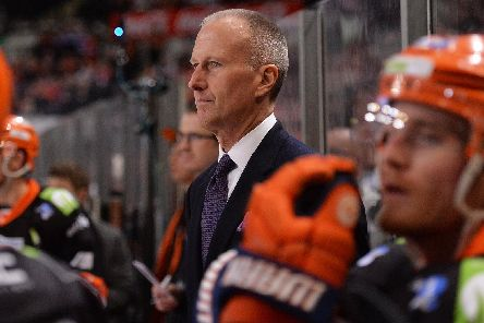 Tom Barrasso on the Steelers'  bench