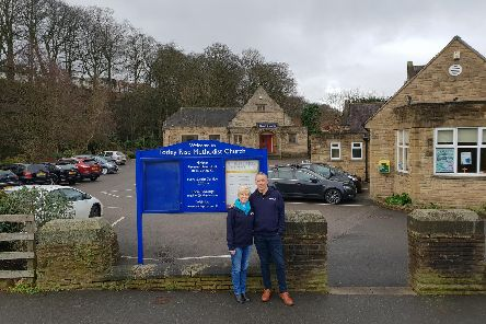 Karen Cook and David Goater at Totley Rise Mehtodist Church