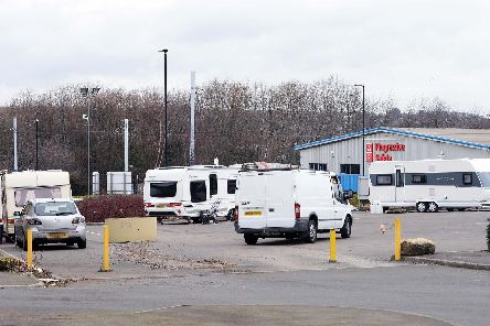 Pictured is land off Woodburn Road, Sheffield which has been occupied by travellers.