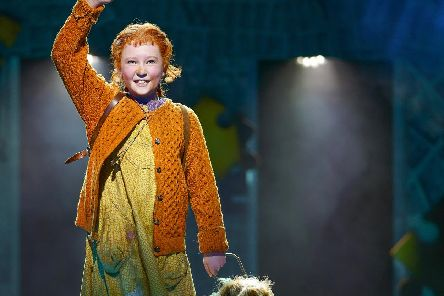 Freya onstage in the title role of Annie, in the new UK touring production