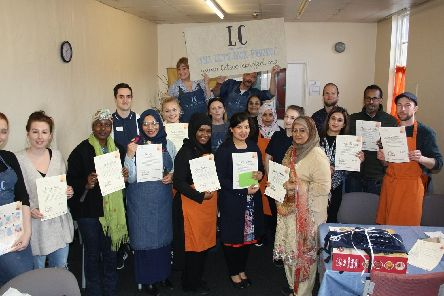 A healthy living Lets Cook project was delivered at Ship Shape Health and Wellbeing Centre in Sharrow, after the scheme was set-up by Sheffield leisure provider SIV. Pictured are some of those who attended the cooking class.