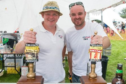 The Great British Food Festival. Pictured are festival organisers Danny Maycock (R) and brother Nick (L)