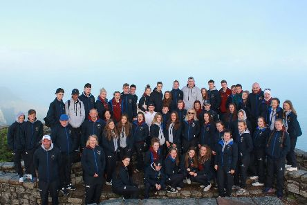 Dinnington High School pupils on a trip to South Africa.