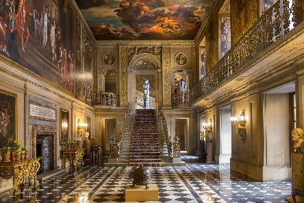 The Painted Hall at Chatsworth. Credit to Chatsworth House Trust.