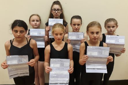 Pupils at Polka School of Dance with their parents' fines