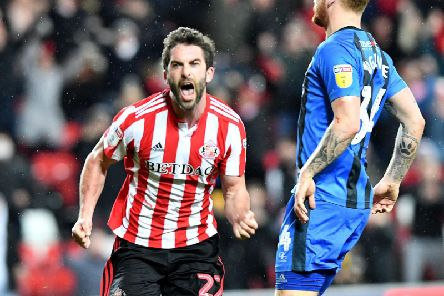 Will Grigg opened his Sunderland account against Gillingham