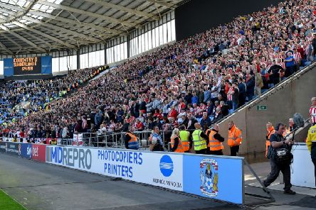 Sunderland fans away at Coventry City earlier this season.
