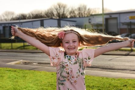 Amelia Reveley (6) of Garden Gate Drive South Shields, is having her first ever haircut and will be raising funds for the Little Princess Trust.