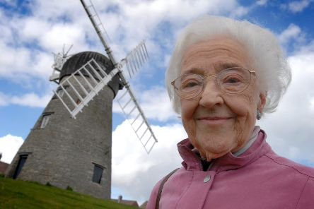 Sybil Reeder at Whitburn windmill