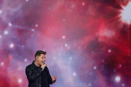 Hartlepool singer Michael Rice performed Bigger Than Us as the UK's entry in the 2019 Eurovision Song Contest grand final in Tel Aviv, Israel. Pic: AP Photo/Sebastian Scheiner.