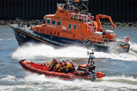 Tynemouth RNLI all weather lifeboat and Cullercoats RNLI lifeboat. Picture by Adrian Don