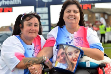 Caroline Curry, left, and Lisa Rutherford did the Great North Run 2018 to raise funds for the Chloe and Liam Together Forever Trust, named in memory of their son and daughter.