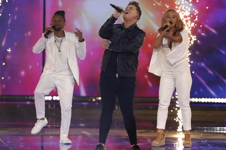 Michael Rice performs Bigger Than Us during Saturday night's show