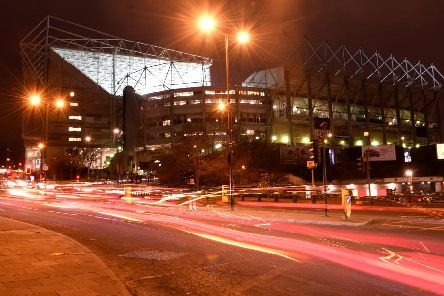 NEWCASTLE UPON TYNE, ENGLAND - JANUARY 31:  General view outside the stadium prior to the Premier League match between Newcastle United and Burnley at St. James Park on January 31, 2018 in Newcastle upon Tyne, England.  (Photo by Stu Forster/Getty Images)